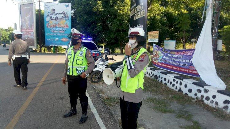 Satlantas Polres Kupang Kota Beri Imbauan Cegah Virus Corona Kepada Warga dan Pengendara