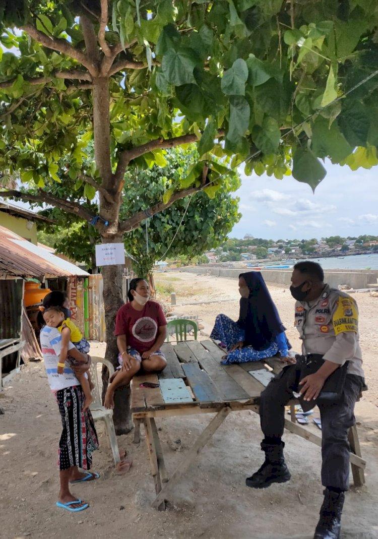 Terkait Covid-19, Bhabinkamtibmas Himbau Masyarakat di Kelurahan Namosain