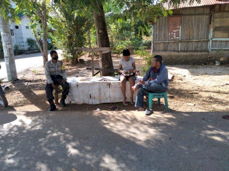 Bhabinkamtibmas Kelurahan Penfui Himbau Warga Binaaan Jalani New Normal