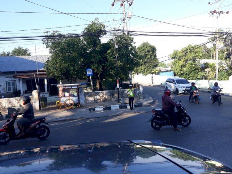 Satlantas Polres Kupang Kota Ajak Warga Patuhi Penggunaan Helm dan Masker Serta Tertib Berlalulintas