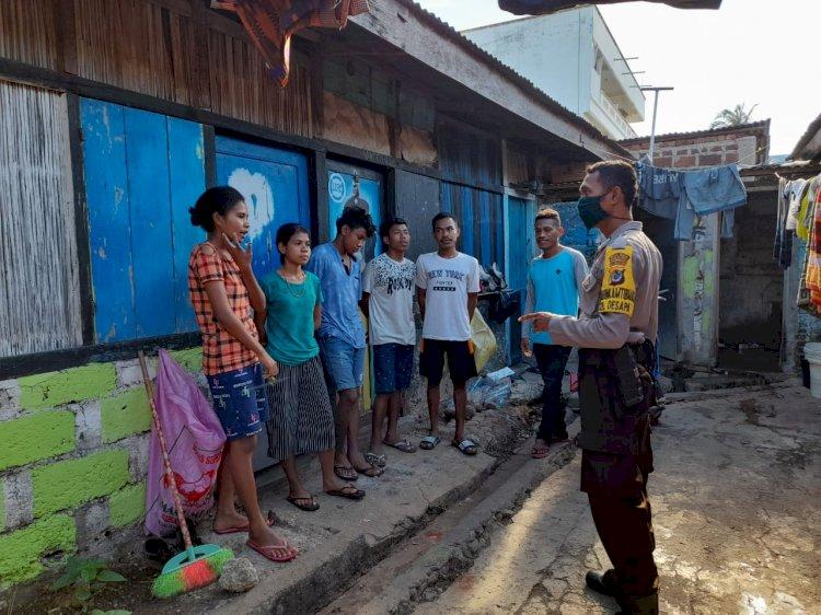 Babinkamtibmas Kelurahan Oesapa Patroli Sambang Warga Untuk Wujudkan Kemitraan Dalam Jaga Kamtibmas