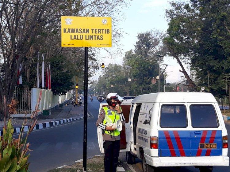 Unit Dikyasa Satuan Lalu Lintas Polres Kupang Kota menggelar kegiatan sosialisasi Pendidikan Masyarakat ( Dikmas).
