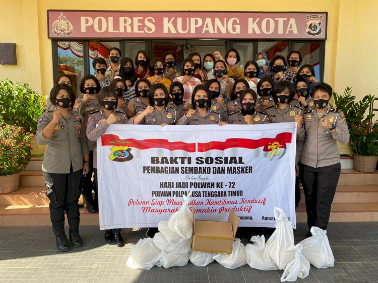 Polwan Polres Kupang kota Melaksanakan Bakti Sosial Dalam Rangka Hut Polwan ke 72