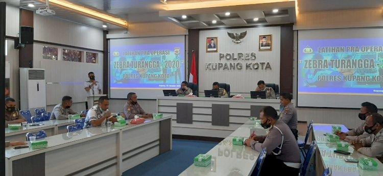 Jelang Operasi Zebra Turangga 2020, Waka Polres Kupang Kota Pimpin Lat Pra Ops