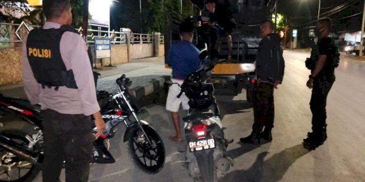 Balap Liar, Sat Sabhara Polres Kupang Kota Amankan 3 Unit Sepeda Motor