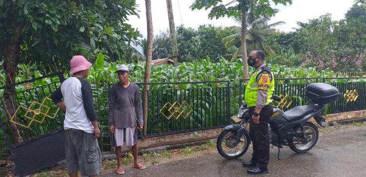Bhabinkamtibmas Kelurahan Kolhua Sambang Dan Silaturahmi, Himbau Warga Patuhi Protokol kesehatan