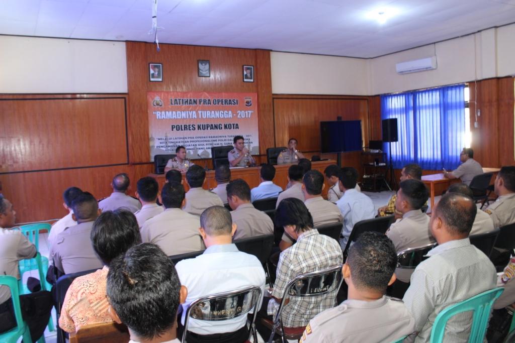 Polres Kupang Kota Gelar Lat Pra Ops Ramadniya Turangga 2017
