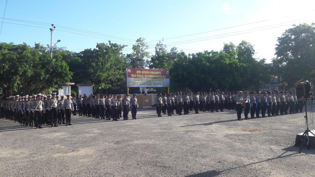 Ratusan Personil Polres Kupang Kota Siap Mengamankan Pelaksanaan Pemilu 2019 di Kota Kupang.