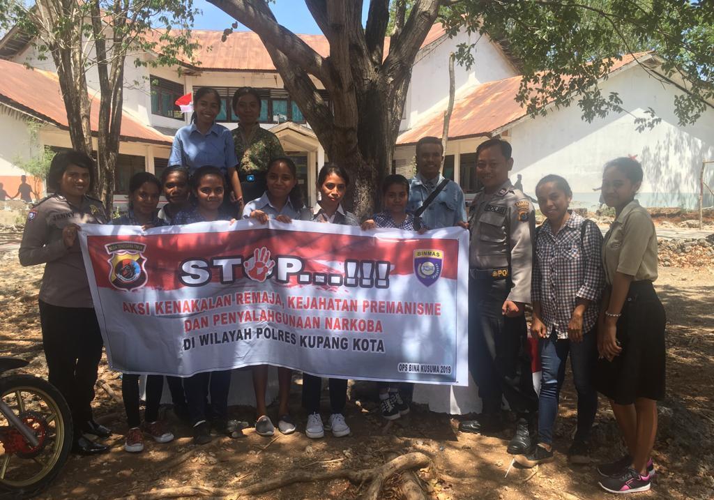 Operasi Bina Kusuma Turangga 2019, Sat Binmas Polres Kupang Kota Sosialisasi Bahaya Narkoba,Kenakalan Remaja dan Premanisme.