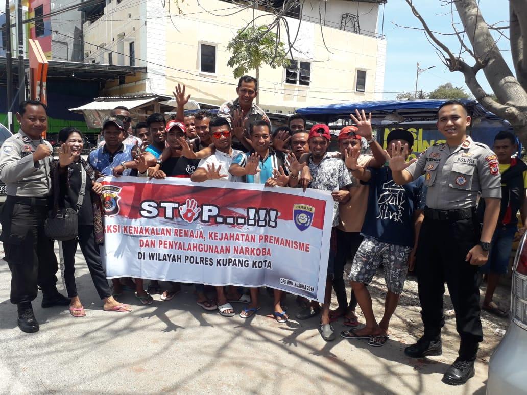 Sat Binmas Polres Kupang Kota Berikan Binluh Warga Kelurahan Oesapa Dalam Rangka Operasi Bina Kusuma Turangga-2019