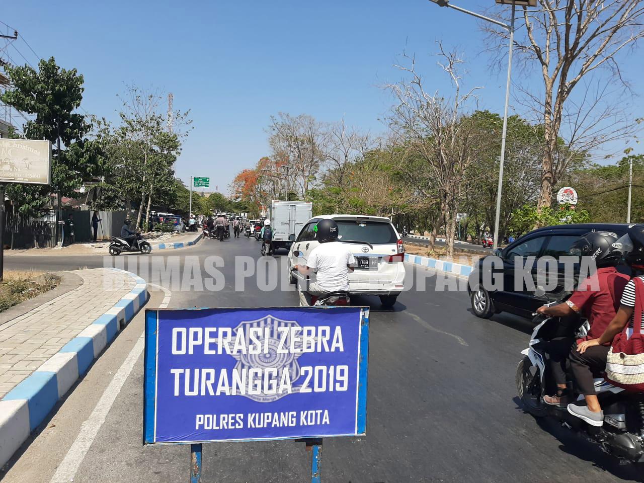 Hari Kedua Operasi Zebra Turangga 2019,Polres Kupang Kota Tilang 42 Pengendara, Ini Dominasinya.