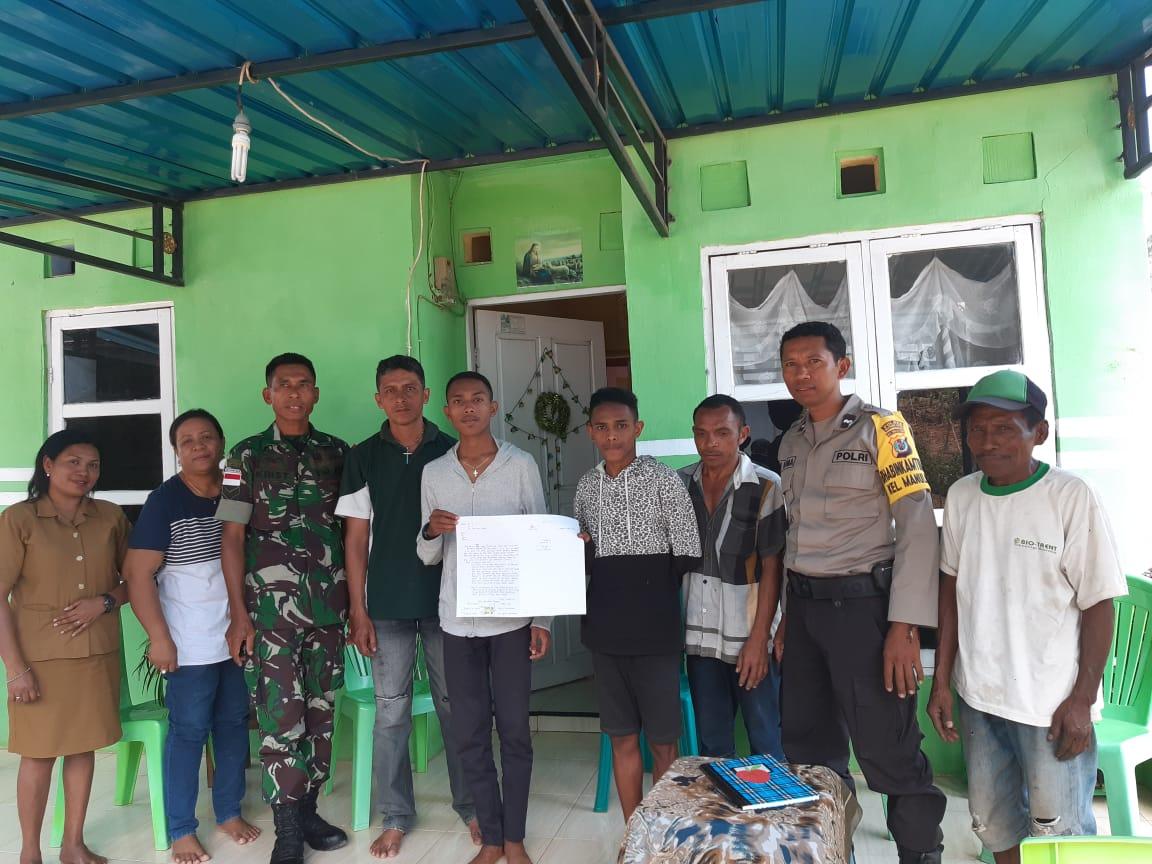 Bhabinkamtibmas Kelurahan Manulai II Menyelesaikan Masalah Pengancaman