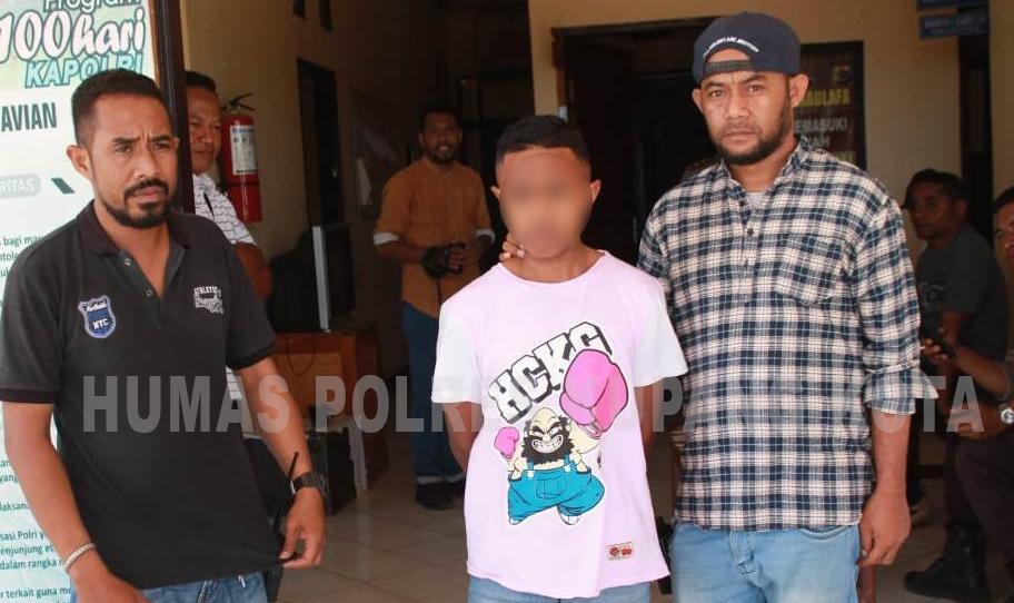 Unit Reskrim Polsek Maulafa Amankan Pelaku Pencurian dengan Kekerasan.