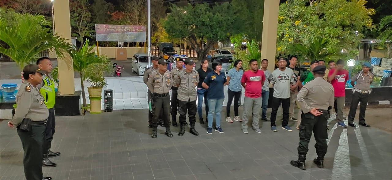 Operasi Pekat Turangga-2019, Personil Polres Kupang Kota Datangi Citra Hotel