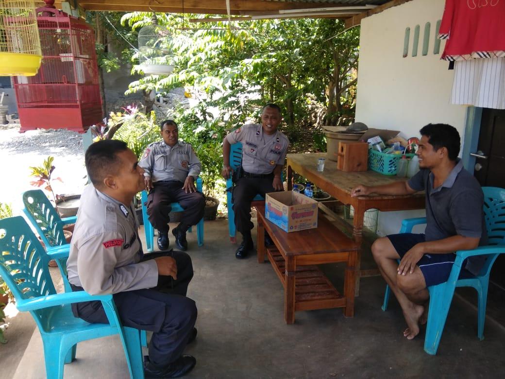Satuan Sabhara Polres Kupang Kota Sambangi Warga Berikan Pesan Kamtibmas