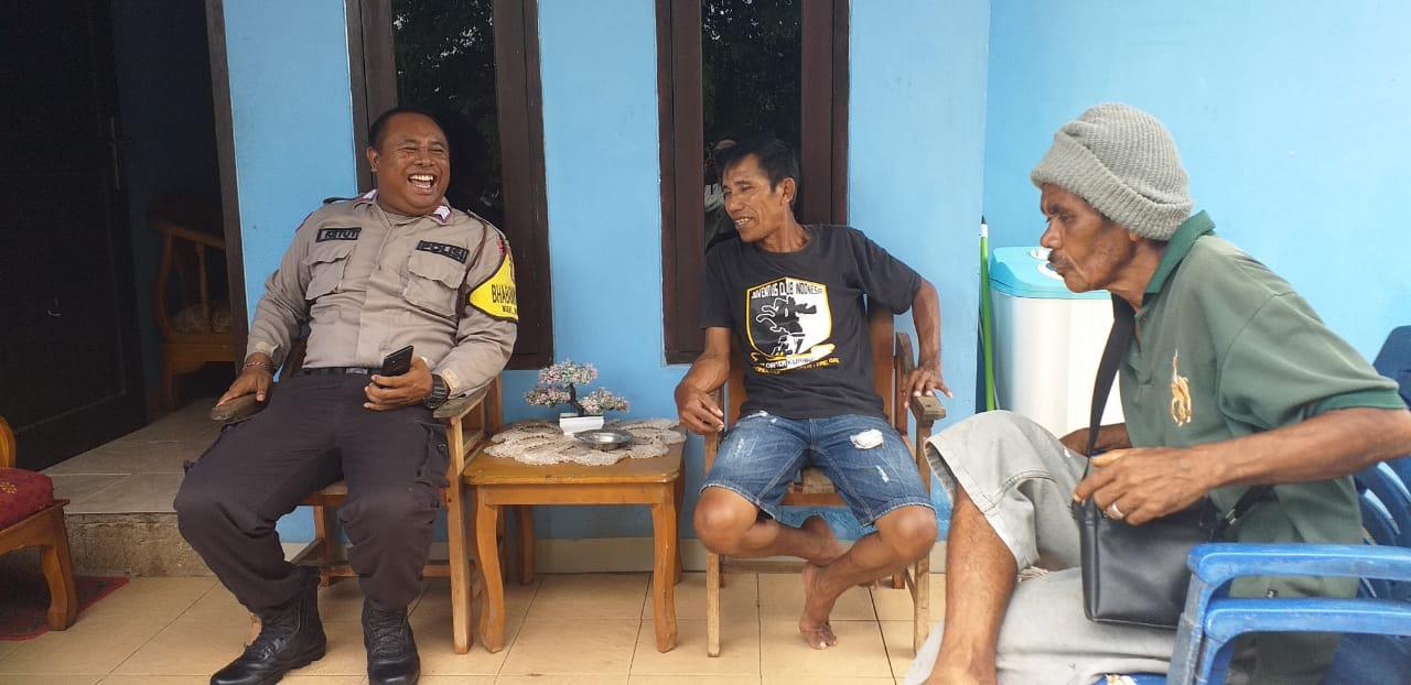 Melalui Kegiatan DDS, Bhabinkamtibmas Kelurahan Kolhua Berikan Pesan Kamtibmas Pada Warga