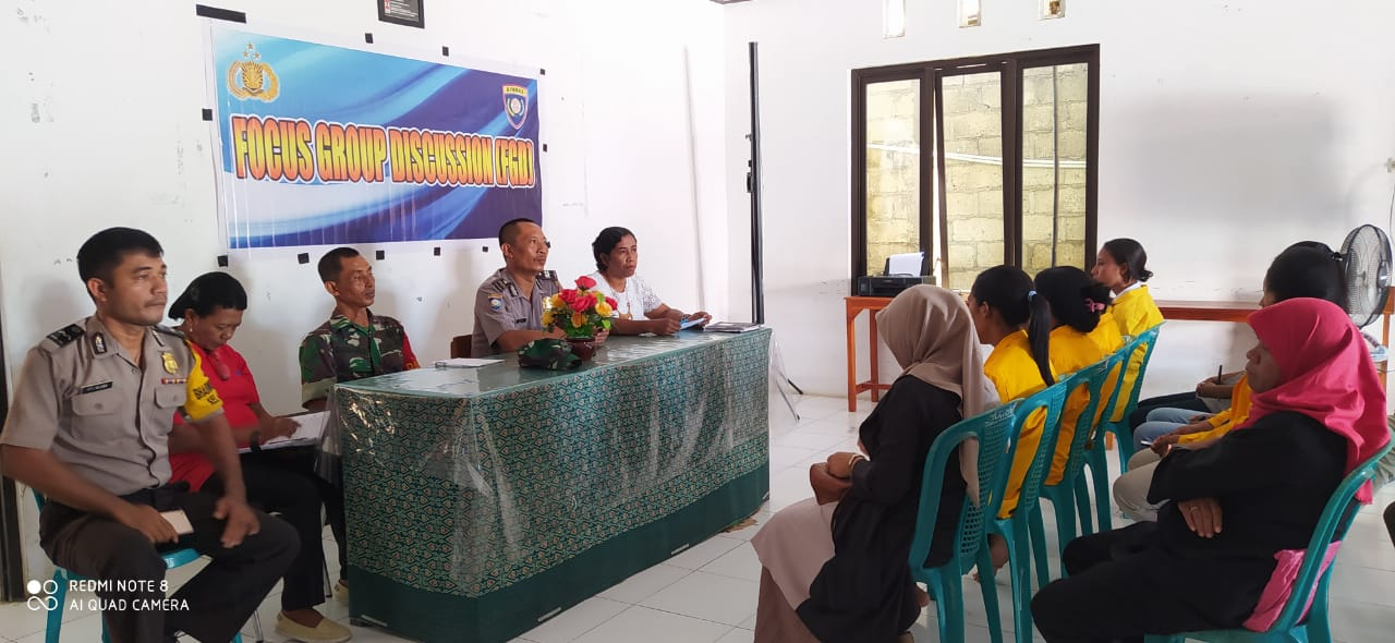 Ciptakan Wilayah Ramah Anak, Satbinmas Polres Kupang Kota Gelar FGD di Kelurahan Bonipoi