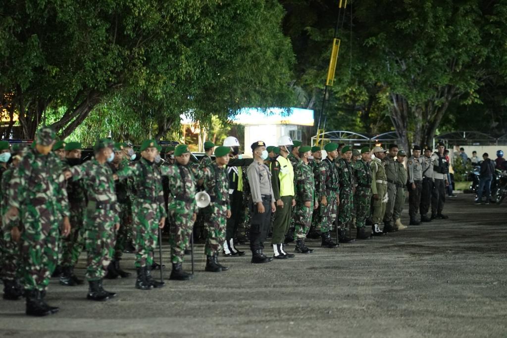 PATROLI DAN SOSIALISASI OLEH UNSUR TNI / POLRI DAN INSTANSI TERKAIT PENCEGAHAN DAN PENULARAN VIRUS CORONA (COVID-19)  DI WILAYAH KOTA KUPANG